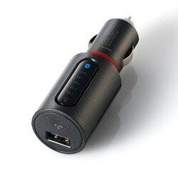 ELECOM(エレコム) FMトランスミッター/Bluetooth/USBポート付/2.4A/おまかせ充電/4チャンネル LAT-FMBT02BK ブラック LATFMBT02BK画像