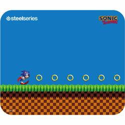 SteelSeries ゲーミングマウスパッド QcK-Sonic-the-Hedgehog-Edition [ソニック・ザ・ヘッジホッグ] 63394