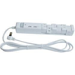 ファーゴ USB充電ポート付電源タップ (2ピン式・6個口・USB2ポート・2m) PTBK2600UWH ホワイト【ビックカメラグループオリジナル】 PTBK2600UWH [振込不可]