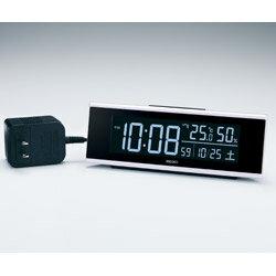 SEIKO 目覚まし時計 【シリーズC3】 白 DL307W [デジタル /電波自動受信機能有] DL307W