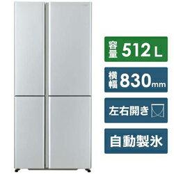 【基本設置料金セット】 AQUA 冷蔵庫 サテンシルバー AQR-TZ51J-S [4ドア /左右開きタイプ /512L] AQRTZ51J_S 【お届け日時指定不可】
