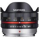 SAMYANG(サムヤン) 7.5mm F3.5 UMC Fisheye ブラック [マイクロフォーサーズ] 対角線魚眼レンズ(MFレンズ) 7.5MM3.5FISHEYEMFTBK