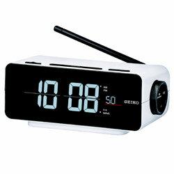 SEIKO 電波交流式目覚まし時計 「C3FLIP」 DL213W 白 DL213W