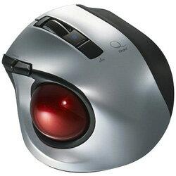 Nakabayashi MUS-TBLF134SL ワイヤレスレーザートラックボール[Bluetooth・Mac/Win] 静音・コンパクトモデル (5ボタン・シルバー) MUSTBLF134SL