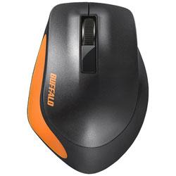 BUFFALO(バッファロー) BSMBW300MOR(3ボタン・オレンジ) ワイヤレスBlueLEDマウス[2.4GHz USB・Mac/Win] BSMBW300Mシリーズ 静音 BSMBW300MOR画像