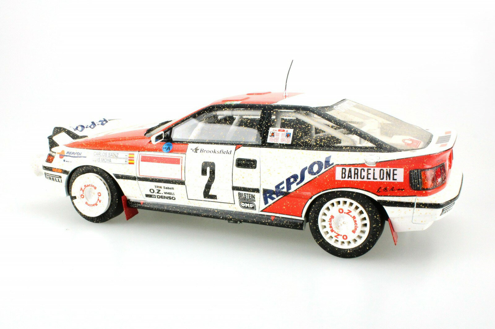 Topmarques トップマルケス 1:18 1991年モンテカルロラリー優勝モデル トヨタ セリカ GT4 ST165 No.2 サインツTOYOTA - CELICA ST165 (night version) N 2 WINNER RALLY MONTECARLO 1991 CARLOS SAINZ - LUIS MOYA 1/18 by Topmarques NEW