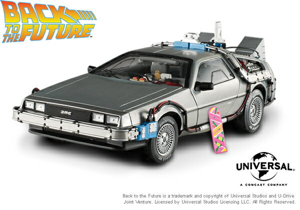 elite cult classics back to the future time machine delorean with. Black Bedroom Furniture Sets. Home Design Ideas