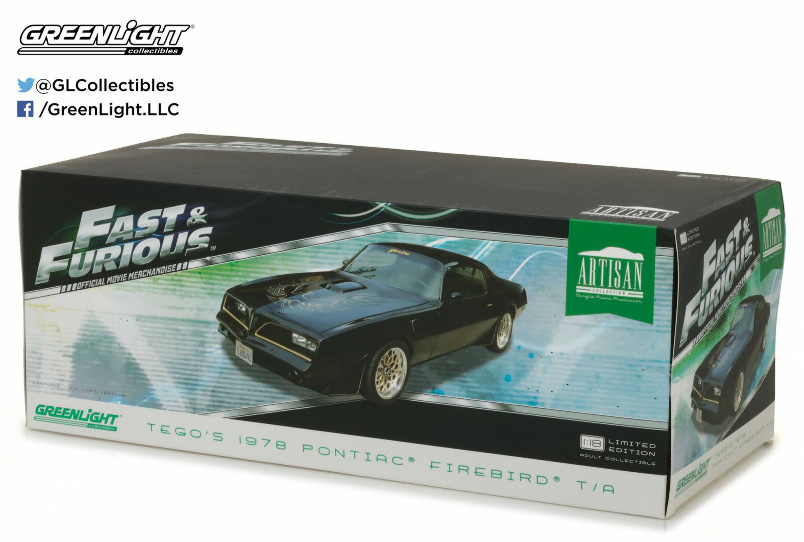 "Greenlight グリーンライト 1:18 1978年モデル ポンティアック トランザム 2009年映画「ワイルドスピード MAX」Tego's 1978 Pontiac Firebird Trans Am ""Fast & Furious"" (2009) Movie Artisan Collection 1/18 Diecast Model Car by Greenlight"
