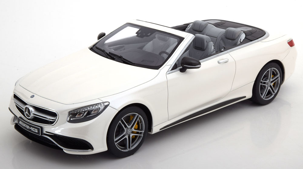 車, ミニカー・トイカー  118 2017 AMG S63 2017 Mercedes-Benz AMG S 63 Cabriolet designo diamond white bright 1:18 by Mercedes Benz AG EUR