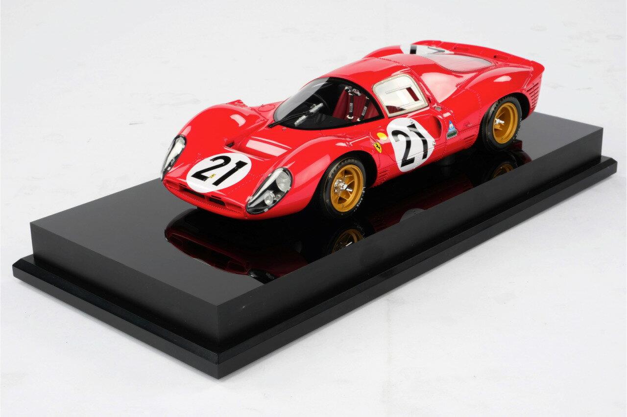 Amalgam Collection アマルガムコレクション 1/18 ミニカー レジン プロポーションモデル 1967年ルマン24時間 フェラーリ 330P4 No.21 L.Scarfiotto M.Parks1967 Le Mans Ferrari 330P4 No21 1:18 Ludovico Scarfiotti and Mike Parks Amalgam Collection画像