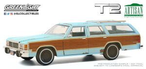 Greenlight グリーンライト 1/18 ミニカー ダイキャストモデル 1991年公開「Terminator 2:Judgement Day」1980年モデル フォード LTD Country Squire1:18 Artisan Collection - Terminator 2: Judgment Day (1991) - 1980 Ford LTD Country Squire
