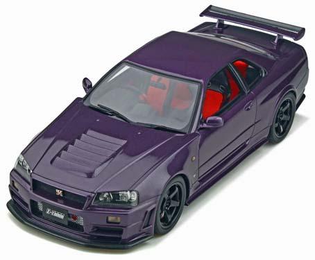 車, ミニカー・トイカー Otto Mobile 118 1998 GT-R Nismo Z-Tune GT4 Wheels R34 1998 Nissan Skyline GT-R Nismo Z-Tune LM GT4 Wheels (R34) 1:18 Midnight Purple by Otto Mobile