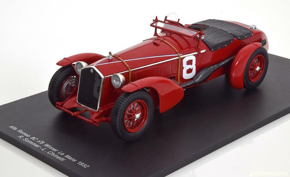 車, ミニカー・トイカー Spark 118 193224 8C 2300LM 2.3L No.8ALFA ROMEO - 8C 2300LM 2.3L SUPERCHARGED TEAM RAYMOND SOMMER N 8 WINNER 24h LE MANS 1932 R.SOMMER - L.CHINETTI 1:18 Spark