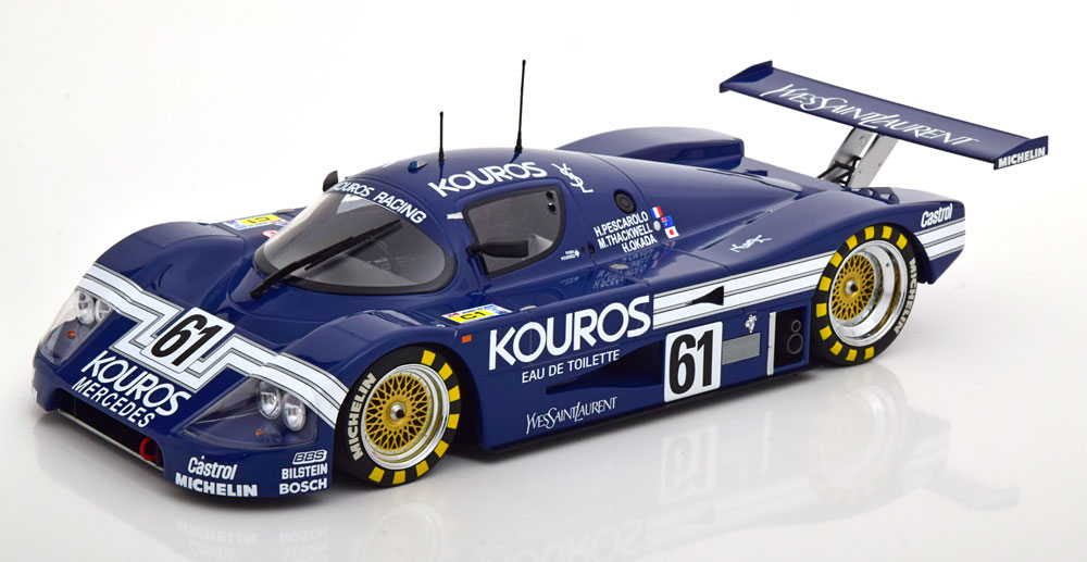 車, ミニカー・トイカー Minichamps 118 198724 SAUBER - C9 MERCEDES M117 5.0L TURBO V8 TEAM KOUROS RACING No.61
