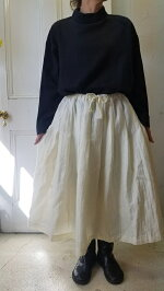 新作/送料無料/リネンウールプリーツスカート/Gauze#/ガーゼ/リネン/スカート