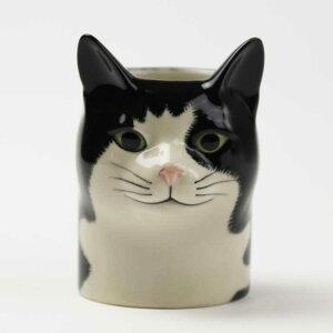 猫のペン立て BarneyPenPot イギリス Quail Ceramics(クウェイル・セラミックス)社製 動物 置物 オブジェ インテリア 北欧 モダン 磁器製 ヨーロッパ 黒猫