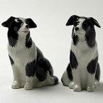 BorderCollieのフィギアセット ボーダーコリー イギリス Quail Ceramics 動物 置物 オブジェ インテリア 磁器製 犬好き