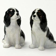 キャバリア キング・チャールズ・スパニエルの塩コショウ入れ Quail Ceramics 動物 置物 オブジェ インテリア 北欧 モダン 磁器製 ヨーロッパ市場向け製品 犬好きさんに わんこ[ドゥナパール]