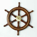 Ship's Wheel w rope 舵輪 ラット 舵 海 ドイツ・Seaclub マリン マリンテイスト 西海岸 アンティーク風