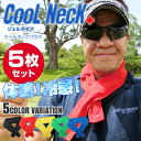 COOL NECK+ クールネックプラス 5枚セット ひんやり 冷感 首用 熱中症対策 グッズ 首 保冷剤