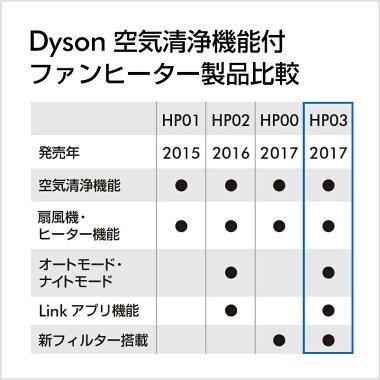 ダイソンDysonPureHot+CoolLinkHP03WS空気清浄機能付ファンヒーター空気清浄機扇風機ホワイト/シルバー【新品/メーカー2年保証】