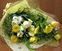 白・黄・オレンジの充実感たっぷりの幸運の花束