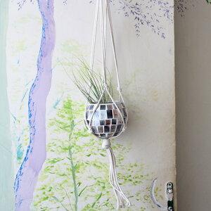 ピカピカ〜!光にかざすと、鉢がきらめく☆部屋に飾るには丁度いいミニサイズモザイク…