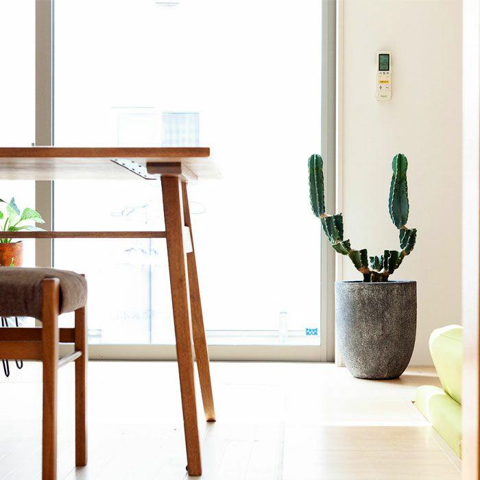 「使いやすい形」のファイバーセメントPOT(6〜8号サイズの植物向け・面長)FO31【植木鉢大型室内おしゃれ】※同梱不可