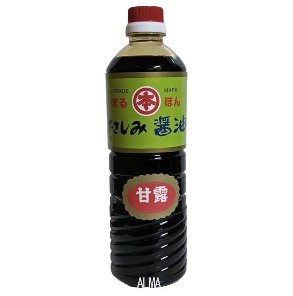まるほん醤油 こいくち醤油 甘露 1000ml(1L)ペット 本多食品工業