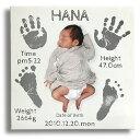 出産祝い 誕生記念 記念日 壁掛け インテリアキャバス ベビーメモリアル手形・足形入り おじいちゃんおばあちゃんのプレゼントに 赤ちゃん