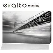 壁掛けインテリアパネル風景モノクロ橋p3
