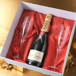 【 酒 】【 ワイン 】 モエ・エ・シャンドンブリュット アンペリアル750ml クリスタルシャンパングラス2点セット
