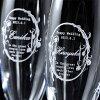 【酒】名入れプレゼントモエ・エ・シャンドンブリュットアンペリアル750mlクリスタルシャンパングラス2点セット