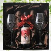 【名入れ専門】【 酒 】【 ワイン 】 WEDDEING ペアワイングラス&キアンティ ヴィッラ・ディ・モンテ ハーフワイン ウェディングラベル