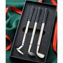 【名入れ専門】【名入れ プレゼント】 ゴルフクラブ3本ギフトセット ボールペン-黒・赤・青