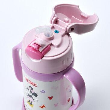 名入れ 子供用水筒 サーモス真空断熱ベビーストローマグ ミッキー ミニー 250ml  保冷 トレーニングマグ