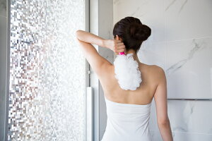 Hadamoist(肌モイスト、ハダモイスト)なで洗いアトピー背中ニキビ日焼けあせも湿疹乾燥肌ひじひざボディタオル泡立てネット回転肌荒れ敏感肌ブラシうるおいバスお風呂美容スポンジ