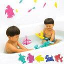 お風呂 おもちゃ 「FLOATicフローティック」お風呂で遊べるパズル【お風呂 パズル 知育 立体 壁に貼れる 浮くおもちゃ バストイ 3D 浴育 トランスフォーム かわいい プレゼント ギフト 出産祝】【あす楽】 1