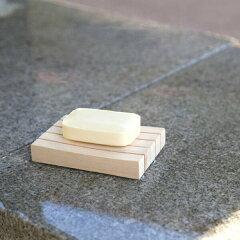 木曽の檜で作ったソープディッシュ 石鹸置き