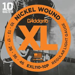 Daddario ダダリオ ダダリオ ギター弦マルチパック EXL110-10P 1ケース 仕入先在庫品【10P03Dec16】