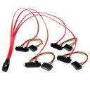 StarTech.com 50cm SFF8087 - 4x SFF8482 ケーブル SAS808782P50 目安在庫=○【10P03Dec16】