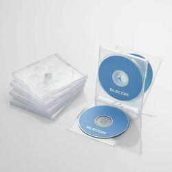 エレコム CD/DVDプラケース/4枚収納/5パック/クリア CCD-JSCNQ5CR メーカー在庫品【10P03Dec16】