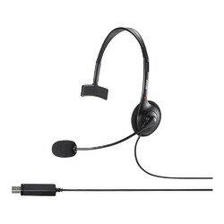 バッファロー BSHSHUM110BK 片耳ヘッドバンド式ヘッドセット USB接続 目安在庫=△【10P03Dec16】