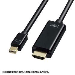 サンワサプライ ミニDisplayPort-HDMI変換ケーブル HDR対応(ブラック・2m)(KC-MDPHDRA20) メーカー在庫品【10P03Dec16】