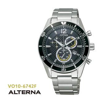 CITIZEN citizen ALTERNA alternative eco-drive chronograph VO10-6742F