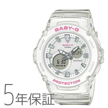 Baby-G ベビーG カラースケルトンシリーズ ホワイト 白 クリア CASIO カシオ BGA-270S-7AJF 腕時計 レディース