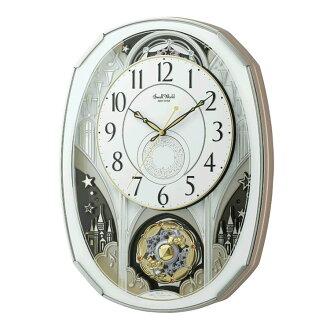 Rhythm clock has locked radio Karakuri clock スモールワールドノエル M Swarovski elements using 4MN513RH03upup7