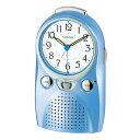 録音出来るクロック♪リズム時計 アラームクロック 目覚まし時計 伝言くんルージュW 4SE521-004