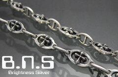 最高品質!鋭い十字のクロスブレスシャープクロスアンカーブレスレット シルバー925【smtb-TK】