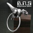銀の恐竜、ティラノサウルスキーリング シルバー925 銀 Silver925 (T-REX、TREX、Tレックス、キーホルダー、キーチェーン、鍵、化石、白亜紀、動物)